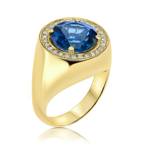THE MAGNIFICENT BLUE TOPAZ RING