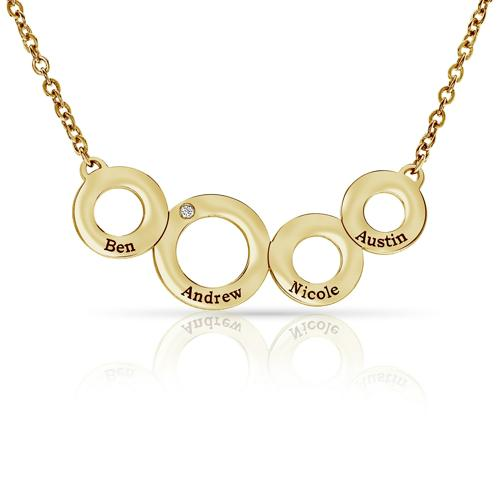 THE 4 ENGRAVED CIRCLE NECKLACE