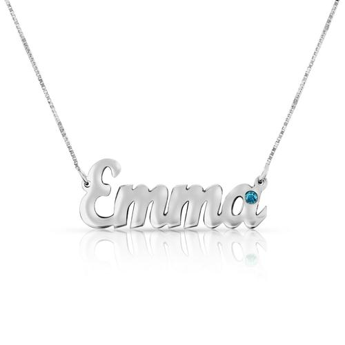 PERSONALIZED CARRIE NAME NECKLACE BLUE DIAMOND