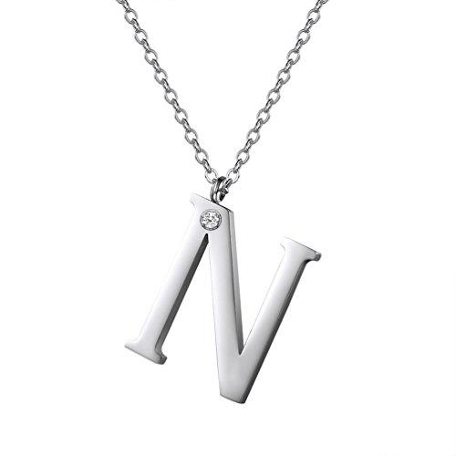 LARGE INITIAL N NECKLACE