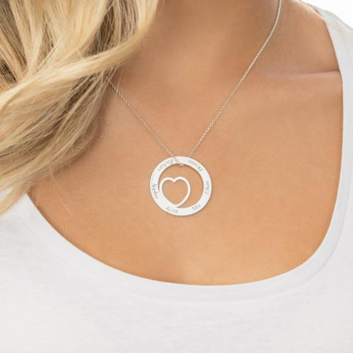 ENGRAVED LOVE NAME CIRCLE AND HEART