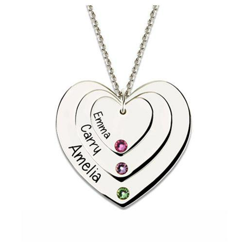 TRIPLE HEART BIRTHSTONE